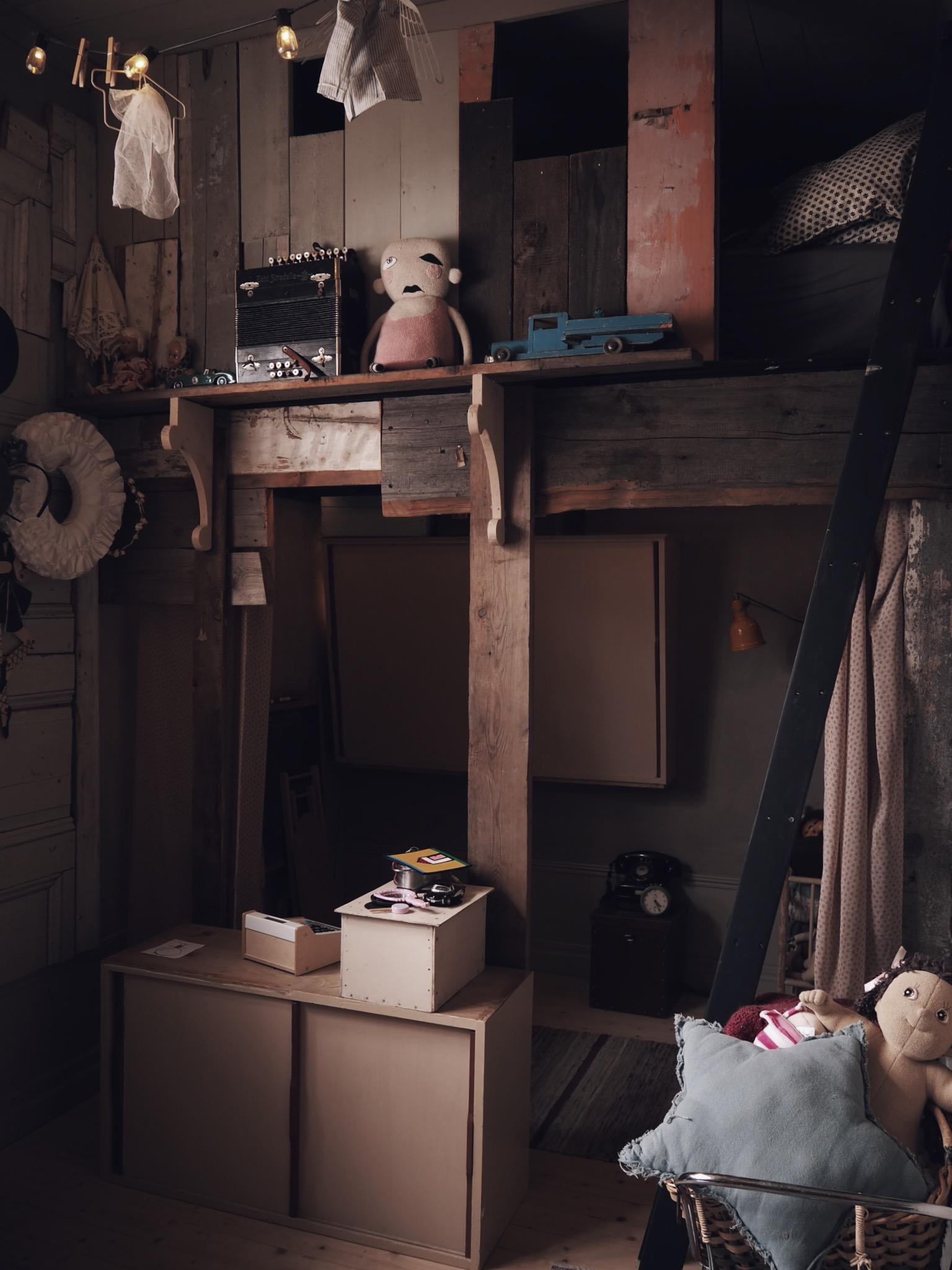 barnrum koja vintage återbruk inredning