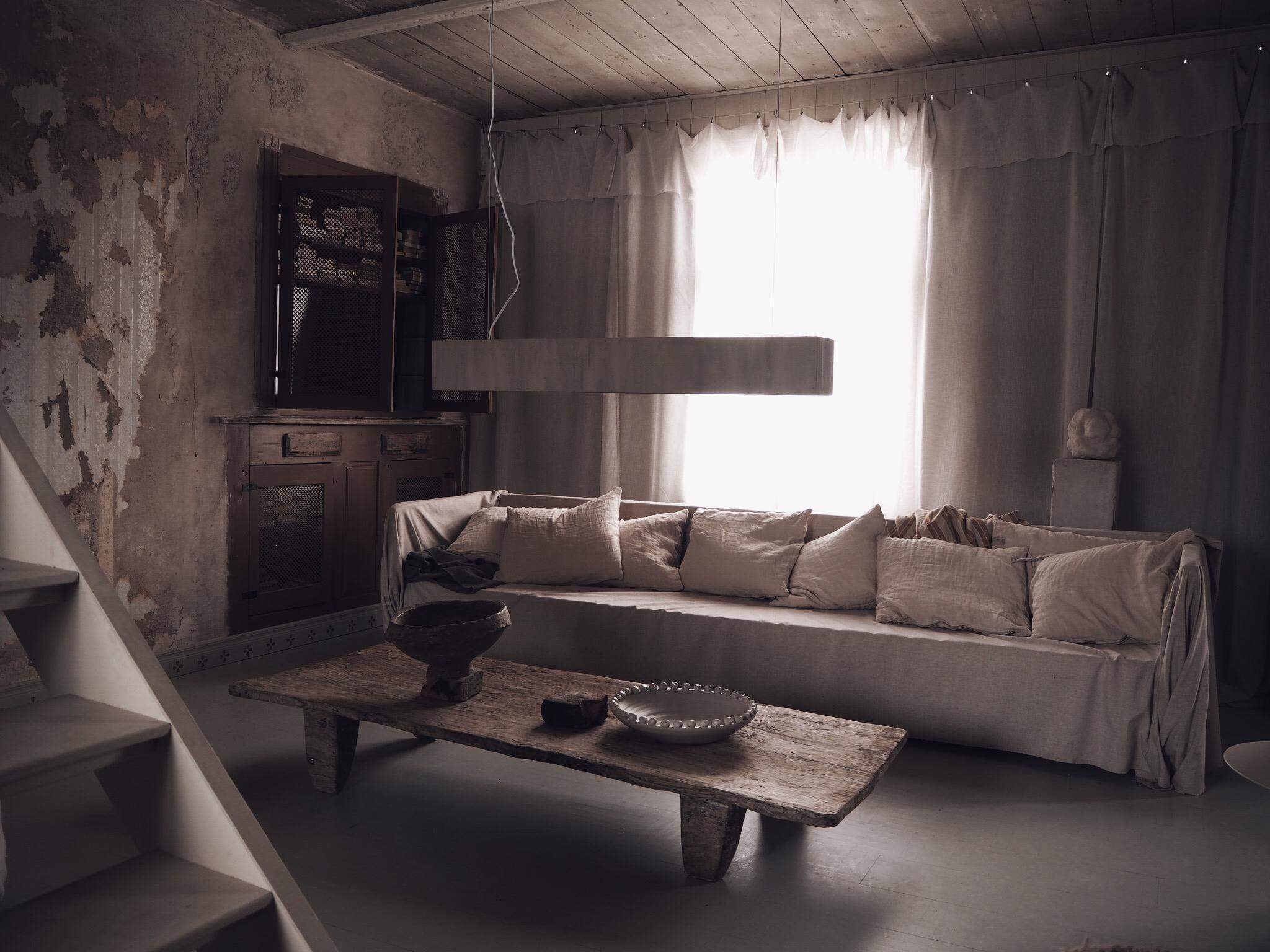 interiör inredning vardagsrum interior beige livingroom