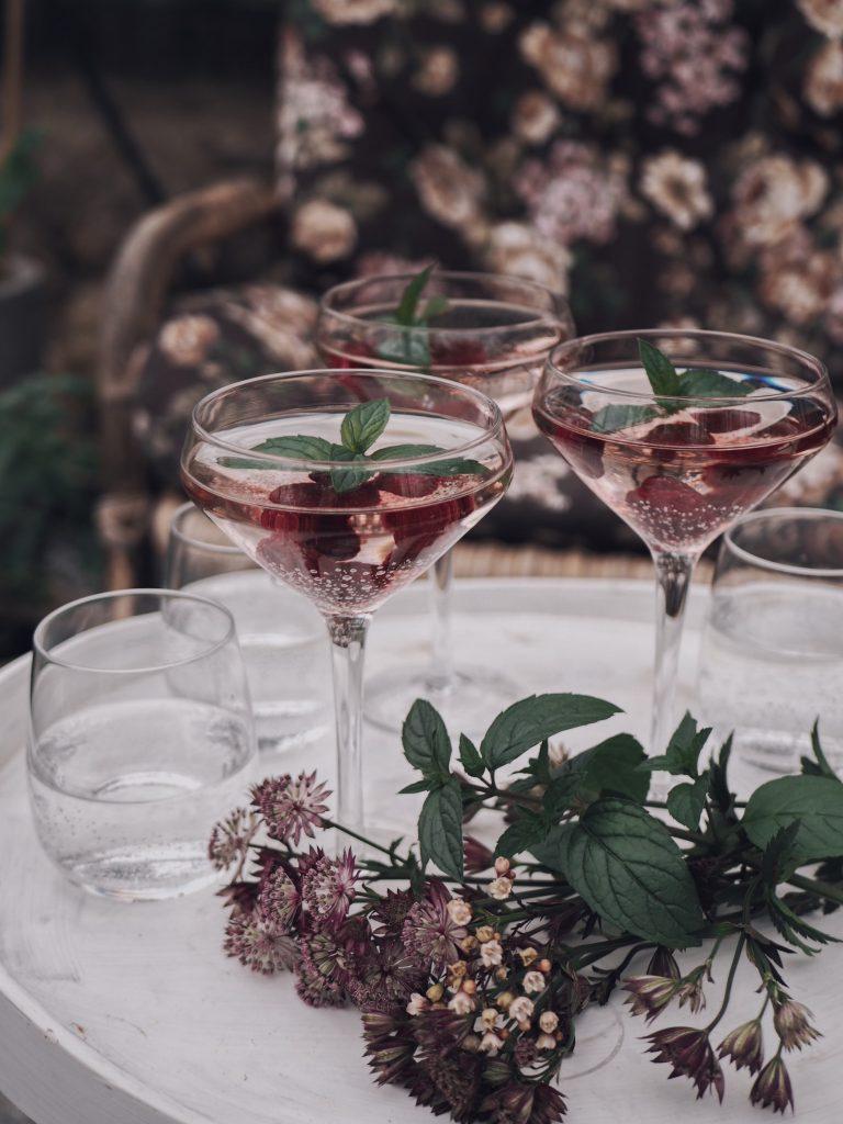 byon design champagneglas sommarfest stjärnflocka