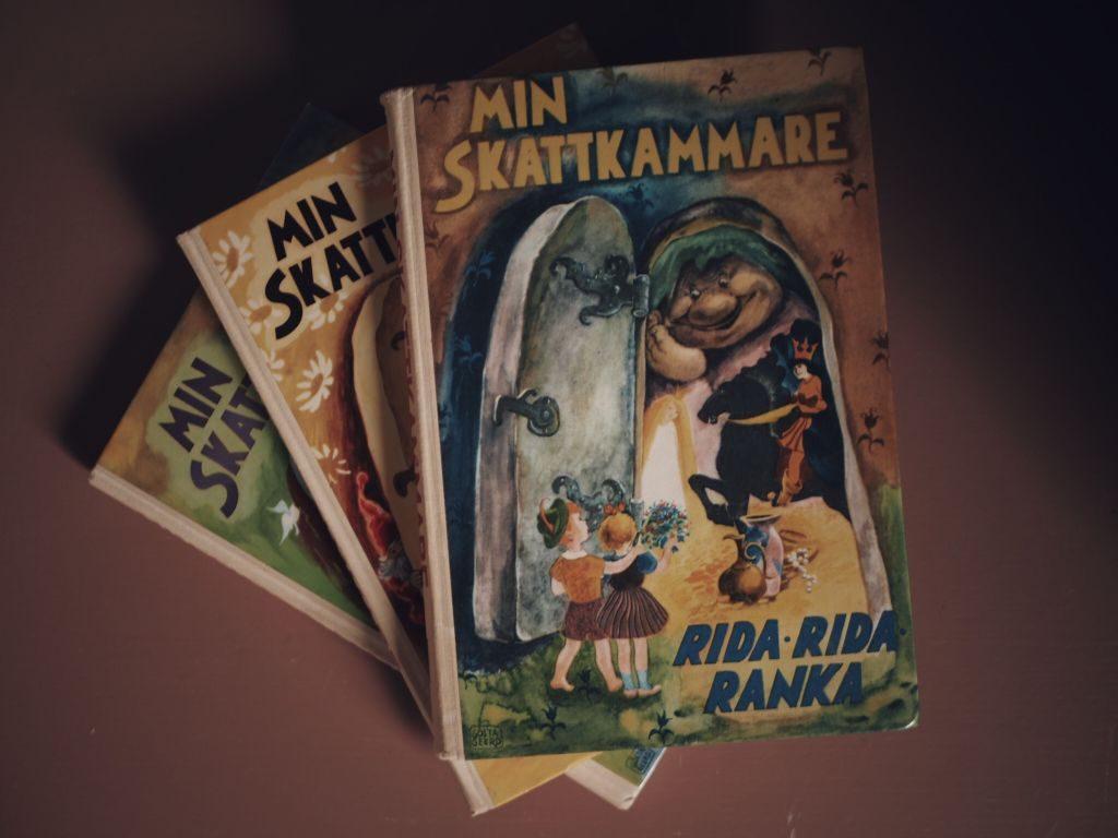 styling barnrum julkalender hållbar klimatsmart tradera min skattkammare vintage böcker second hand