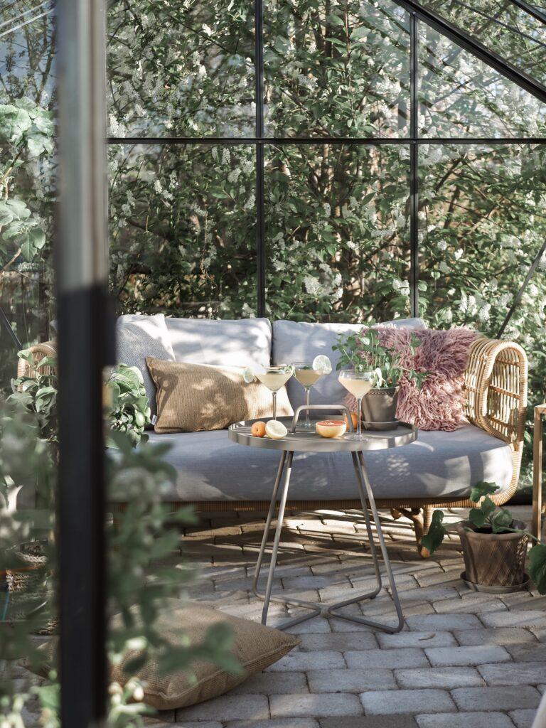 Cane-line konstrotting utemöbler nest sofa